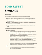 Food safety notes Food Preparation and Nutrition