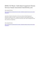 BSHS 355 Week 1 Individual Assignment Human Services Needs Assessment//tutorfortune.com