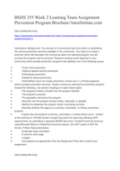 BSHS 355 Week 2 Learning Team Assignment Prevention Program Brochure//tutorfortune.com