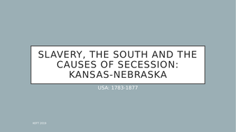 The Kansas-Nebraska Act (Edexcel GCSE America 1783-1877)