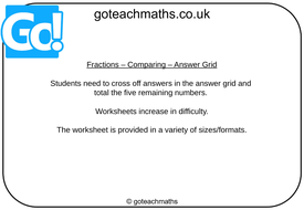 Fractions---Comparing---Answer-Grid.pptx