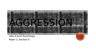 AQA Psychology - Aggression topic revision