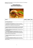 AQA A Level Psychology - Component 3 - Eating Behaviour