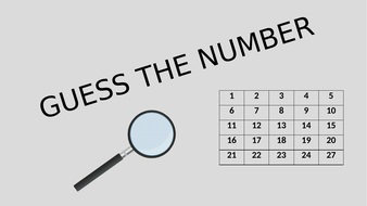 GCSE Maths/Functional Skills-Guess The Number Starter by