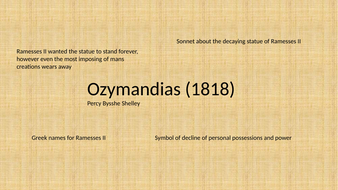 Fully annotated Ozymandias poem for AQA power and conflict