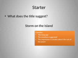 Fully annotated Storm on the Island for Power and Conflict AQA