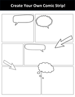 Create Your Own Comic Strip Template