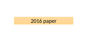 Global Action Project - past papers and answers