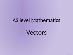 A level AS Mathematics Vectors