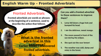 (Slideshow)-Warmup-Fronted-Adverbials.pptx