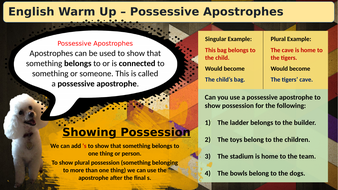(Slideshow)-Warmup-Possesive-Apostrophes.pptx
