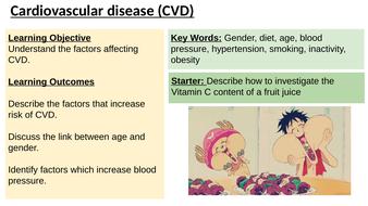 IAS / IAL Edexcel Biology Unit 1 Topic 1: Factors affecting CVD