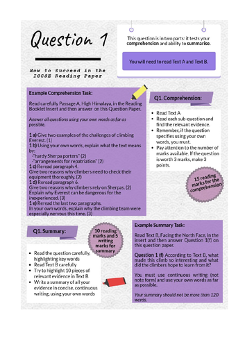 Guides to First Language English IGCSE 2020 Specification