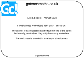 Arcs---Sectors---Answer-Maze.pptx