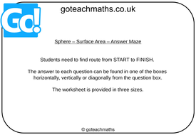 Sphere---Surface-Area---Answer-Maze.pptx