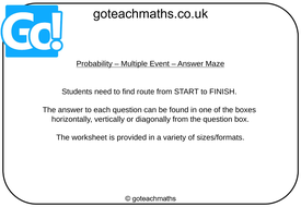 Probability---Multiple-Event---Answer-Maze.pptx