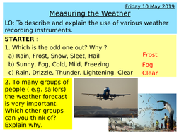 Weather and climate - Weather recording instruments