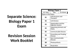 AQA GCSE Biology Paper 1 Revision Session: Separate