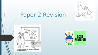 Paper 2 Revision for Chemistry