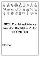 Combined Science Exam style Q Booklet by daniellacutts