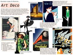 Illustration / Art Design Movement Influences - NCFE / Graphic Design