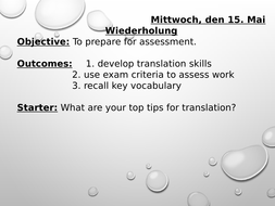 Translation - travel