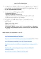 Fact File Worksheet on Volcanoes