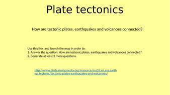 Tectonic Plates Geography Student