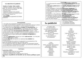 AS / A level / pre-U Revision Mat - la publicité