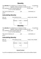 Density Task & Practical