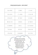 Higher Tier Solving Mixed Quadratic Equations.