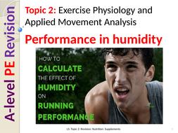 A-Level PE EDEXCEL (spec 2016) Performance in humidity