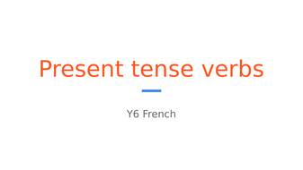 French present tense -er verbs primary