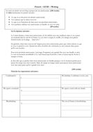 French - GCSE - writing - special occasion (150 word model answer - complex structures)