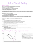 AQA AS Macroeconomics - Fiscal policy Notes