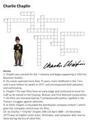 Charlie Chaplin Crossword