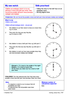 Analogue time to half/hour; sequencing  - Problem-Solving Investigation - Year 1