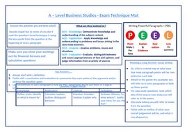 A level Business Exam Technique Mat