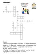 Apartheid Crossword
