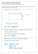 Spot the Mistake: GCSE Maths Revision