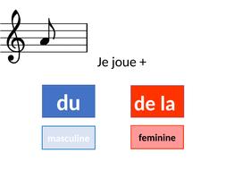 jouer du / de la + instrument