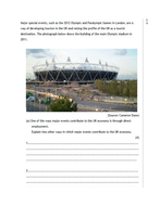 BTEC Level 2 - Travel and tourism - Unit 1 - lesson 5 with starter