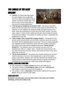 Charge of the Light Brigade by Alfred Tennyson revision guide GCSE English Lit