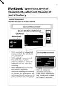 Research Methods Workbook: Central Tendency and Types of Data in Psychology