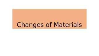 Changes of Materials BUNDLE KS2 Chemistry Science