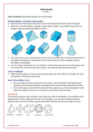 Identify, describe and sort 3-D shapes - Extra Support Activity - Year 3