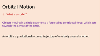 Orbital Motion - AQA GCSE Separate Science