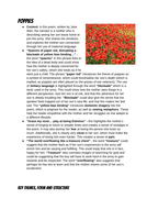 Poppies by Jane Weir GCSE English Lit revision guide