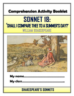 Shakespeare's Sonnet 18 - 'Shall I compare thee to a summer's day?' Comprehension Activities Booklet