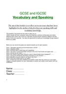English KS3 and KS4 Speaking / Vocabualry/ IELTS preparation